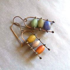Earrings made of fireagate 219 by Stilbruch2012 on Etsy, €38.00