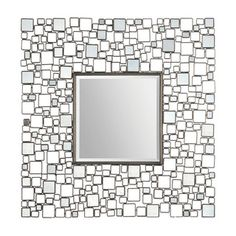 @Overstock.com - Ren Wil 'Opie' Geometric Squares Mirror - The Opie Mirror has a center square beveled mirror surrounded by small polished mirrors embedded in a geometrically designed metal frame. Display this piece in any room to add instant interest and unique texture to your walls.  http://www.overstock.com/Home-Garden/Ren-Wil-Opie-Geometric-Squares-Mirror/7984238/product.html?CID=214117 Add to cart to see special price