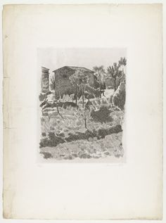 Hillside in the Morning. probably printed c. plate: 11 x 8 x cm); © 2016 Artists Rights Society (ARS), New York / SIAE, Rome. Drawings and Prints Etching Prints, Landscape Drawings, Italian Artist, Museum Of Modern Art, Graphic Design Illustration, Art Google, Art Inspo, Painting & Drawing, Printmaking