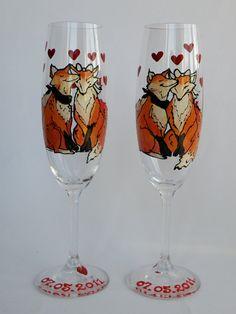 Fox toasting flutes