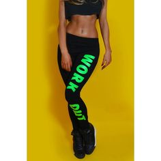 Stylish Low-Waisted Letter Print Stretchy Women's Leggings