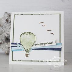 Stampin 'Up! - Above the Clouds - Global Design Project # 190 - Happy Stampin ' Stampin Up Catalog, Above The Clouds, Global Design, Card Sketches, Stamping Up, Hot Air Balloon, Stampin Up Cards, Card Ideas, Balloons