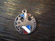 Antiker Studentika Wappen Anhänger Blau Weiß ROT Schwarz Email Gold 1910 1930 | eBay