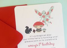 Woodland Fairy Birthday Party Invitations  SET OF by LittleMavens, $24.00