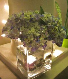 Simple Blue Hydrangea Arrangement