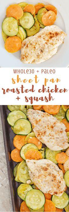 Whole30 Sheet Pan Roasted Chicken + Squash | Personally Paleo