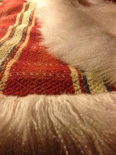 Sheepskin backed coverlet