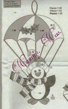 Aprende con Sara: Moldes completos para hacer hermosos colgantes navideños con paracaidas Christmas Applique, Felt Christmas, Christmas Colors, Christmas Projects, Handmade Christmas, Christmas Stockings, Christmas Decorations, Christmas Ornaments, Felt Crafts Diy