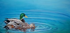 Tranquility by Toni Kelly, 24 x 12 inches watercolor and acrylic on canvas