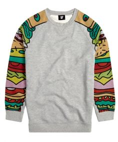 Lazy Oaf sandwich sleeve sweater I NEED THIS