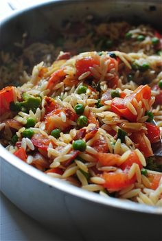 Orzo with Bacon and Summer Vegetables