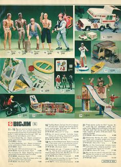 Big Jim Action Figures from the Eaton's Christmas Catalog, 1975