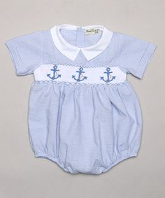 Another great find on #zulily! Light Blue Anchor Bubble Bodysuit - Infant by Classy Couture #zulilyfinds