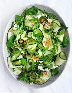 Ribbon Zucchini Salad with Rocket, Feta & Hazelnuts – Amelia Freer