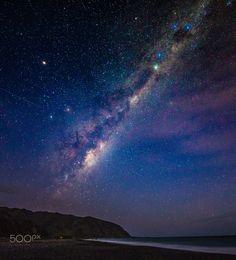 South Coast Milky Way with Ingrid - Wainuiomata South Coast New Zealand Milky Way with Ingrid, by Michael Jordanoff..