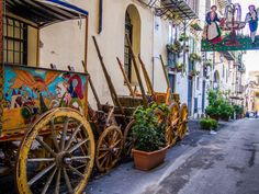Street Vendor Carts, Palermo, Italy
