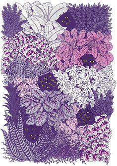 Purple illustration by Ashley Ronning
