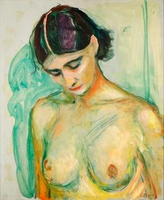 Edvard Munch Nude with Bowed Head 1925-1930