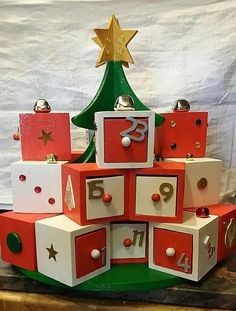 Spectacular Handmade Wooden Advent Calendar Tres Grand