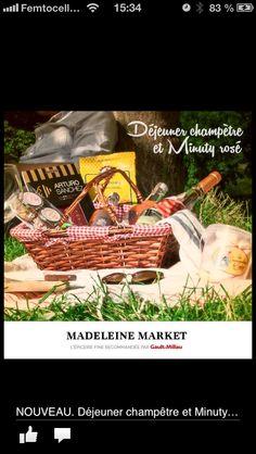 MadeleineMarket.com livre gratuitement votre pique-nique dans son panier en osier offert, partout en France !