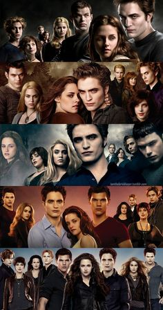The Cullens - Twilight - New moon - Eclipse - Breaking Dawn - Breaking Dawn Part 2.
