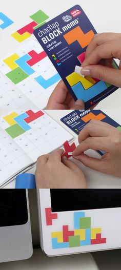 I love playing Tetris as it's one of my favorite game to play; the Tetris Sticky Note Set is a fun and colorful set of sticky notes that look like the game Tetris! The notes are in shape of blocks from the game and make it fun to write memos or send a short message. I also even use it for some fun and creative decorations too!