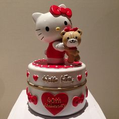 Hello Kitty Cake, Cake Art, Red And White, Jar, Instagram Posts, Desserts, Food, Party, Hello Kitty Birthday