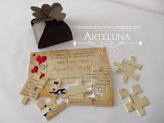 Illustrated Wedding Invitations, Unique Wedding Invitations, Wedding Invitation Cards, Wedding Cards, Wedding Favors, Diy Wedding, Puzzle Crafts, Wedding Wishlist, Crazy Wedding