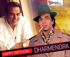 """He is #bollywood's greatest living legends; one who has mesmerized us with his onscreen presence. Here's wishing the """"Action king"""" & """"He-man"""", #Dharmendra a very #HappyBirthday. For more"""