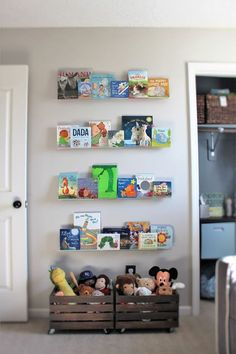 One of the hardest places for me to get organized is my kids playroom. Here are 10 awesome ideas for getting (and keeping) the playroom nice and neat! Big Girl Rooms, Baby Boy Rooms, Baby Boy Nurseries, Baby Room, Nursery Room, Girl Nursery, Kids Bedroom, Nursery Ideas, Bedroom Ideas
