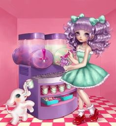 Pastel girl ice