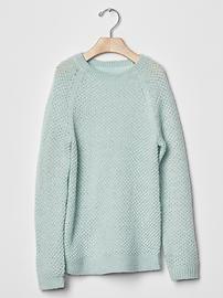 Metallic lurex raglan sweater