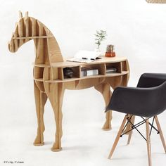 Horse desk IIHIH. What could be more stimulating to a writer? Who wants boring? Click on pick for link to article and ordering info