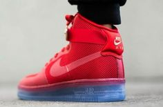 """On-Feet Photos Of The Nike Air Force 1 High CMFT Lux """"University Red"""" • KicksOnFire.com"""
