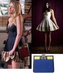 Dirty Rotten Scandals | Serena van der Woodsen in Lorick Spring 2009 Nikki Dress  Oscar De La Renta Mariela Bag