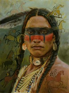 David Yorke Artist New Paintings Giclee Prints Available Upcoming Show Native American Western Art as seen in Western Art Collector Magazine Native American Face Paint, Native American Warrior, Native American Paintings, Native American Pictures, Native American Beauty, Indian Pictures, American Indian Art, Native American History, American Indians