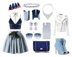 """Chic in Blue"" by sarah-noske on Polyvore featuring Mode, Miu Miu, Doublju, Chanel, Maison Margiela, Miadora, Christian Dior, Swarovski und Gianvito Rossi"