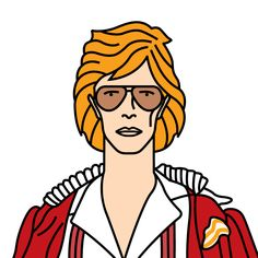Bowie Cracked Actor (1974) David Bowie Born, David Bowie Tribute, My Music, Ronald Mcdonald, Pop Art, Actors, Cartoon, Photo And Video, Celebrities