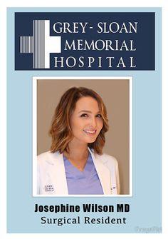 Jo Wilson - ID Badge - Grey's Anatomy
