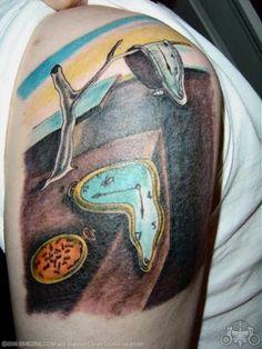 Tattoo - Salvador Dali's melting clocks