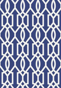 Downing Gate #wallpaper in #navy from the Resort collection. #Thibaut