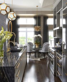 Dining Room Updates, Modern Rooms - Home Decoration Ideas Modern Room, House Design, Home Interior Design, Interior Design, Home Decor Kitchen, House Interior, Dining Room Updates, Dream Kitchens Design, Home Decor