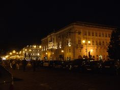 Trieste by night-le rive-along the shore