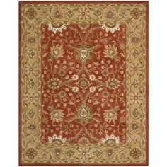 Shop for Safavieh Handmade Kerman Rust/ Gold Wool Rug (7'6 x 9'6). Get free shipping at Overstock.com - Your Online Home Decor Outlet Store! Get 5% in rewards with Club O!