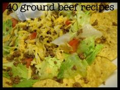 40 recipes that use cooked ground beef!  Once-a-month cooking concept! I'm liking this!