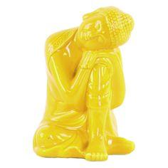 Urban Trends Ceramic Head on Left Knee Buddha Sculpture - 35403