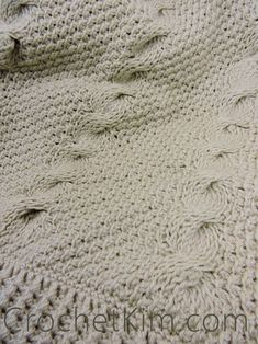 CrochetKim Free Crochet Pattern | Nautical Waves Throw @crochetkim
