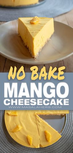 How to make Mango Cheesecake [No Bake Recipe] with basic common ingredients and fresh mango. You will need a springform, spatula, and a hand mixer to whip the cream. This is an easy foolproof recipe. Mango Desserts, Köstliche Desserts, Mango Cheesecake, Easy Cheesecake Recipes, Homemade Cheesecake, Classic Cheesecake, Homemade Snickers, Savoury Cake, No Bake Cake