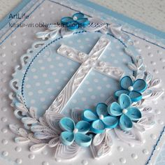 No photo description available. Quilling Paper Craft, Quilling Flowers, Paper Crafts, Quilling Ideas, Paper Art, New Crafts, Diy And Crafts, Arts And Crafts, Bible Study Crafts