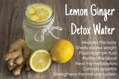 Cleanse Your Body and Burn Fat with this Lemon Ginger Detox Water -- Whether you're trying to lose weight, or just want to look and feel your best, one of the best ways to do so is by making some lemon ginger detox water. It's incredibly... LIVELOVEFRUIT.COM